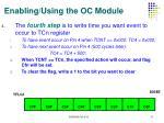 enabling using the oc module3