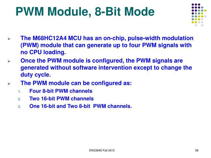 PWM Module, 8-Bit Mode