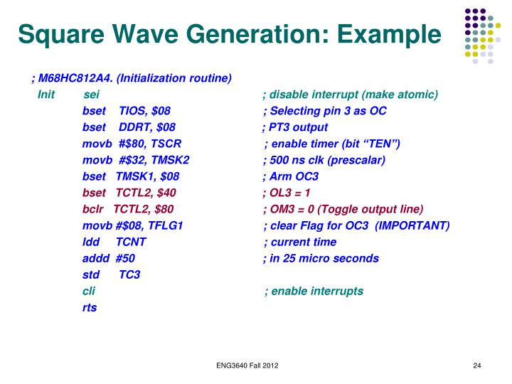 Square Wave Generation: Example