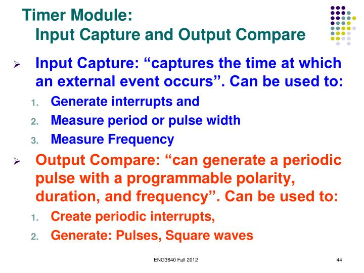 Timer Module: