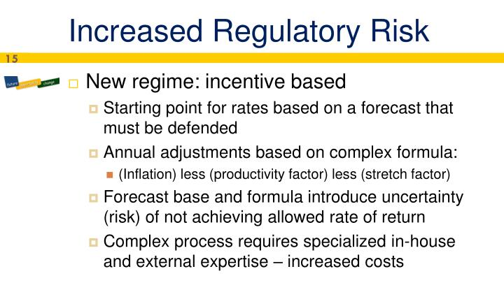 Increased Regulatory Risk