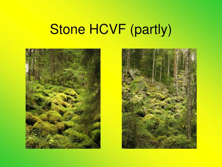 Stone HCVF (partly)