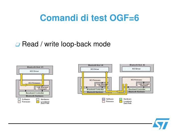 Comandi di test OGF=6