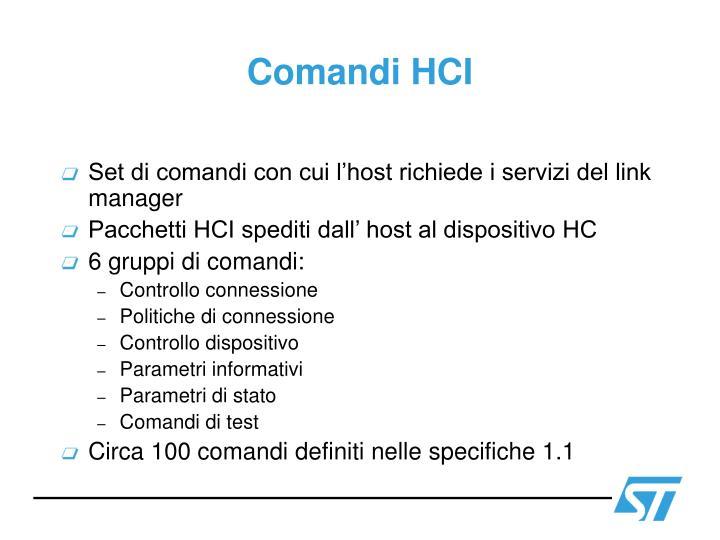 Comandi HCI