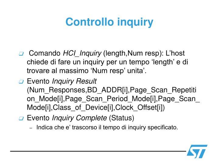 Controllo inquiry