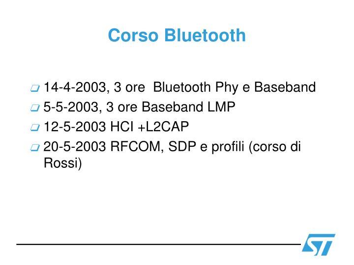 Corso Bluetooth