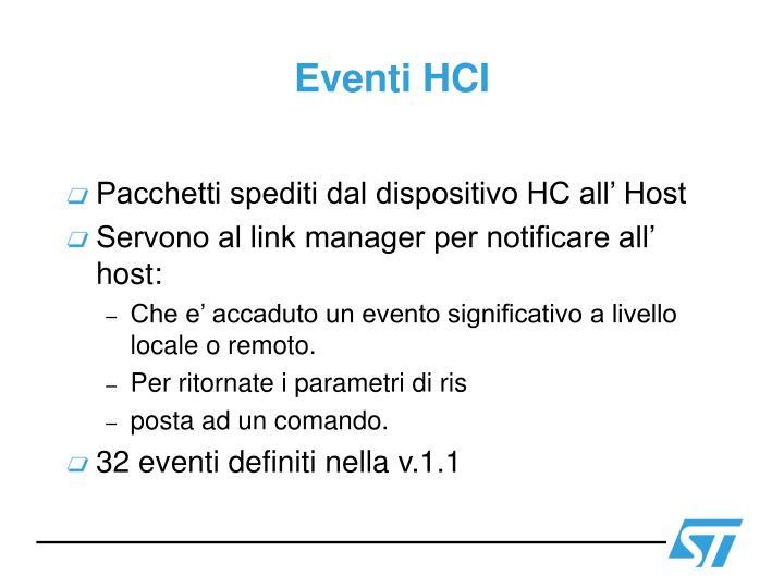 Eventi HCI