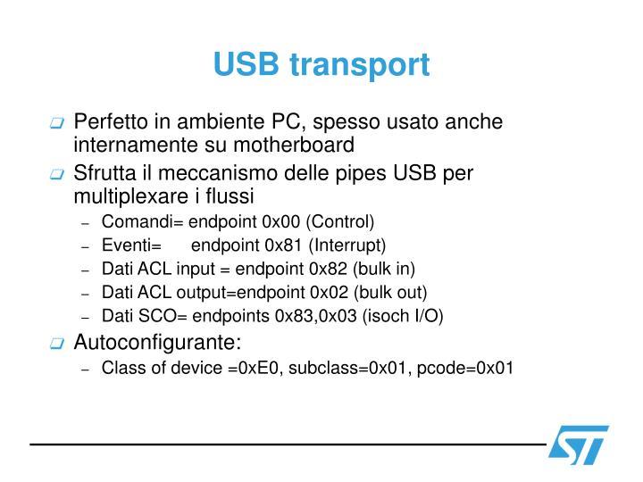USB transport