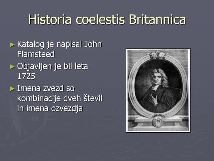 Historia coelestis Britannica