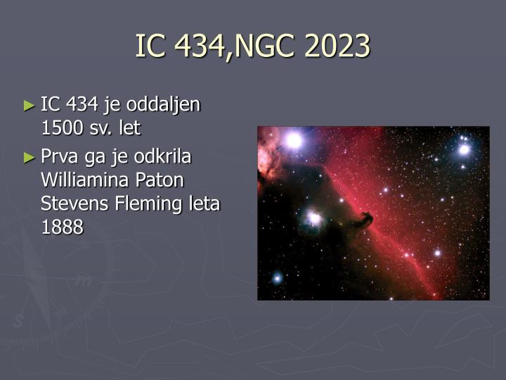 IC 434,NGC 2023