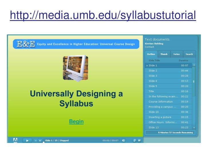 http://media.umb.edu/syllabustutorial