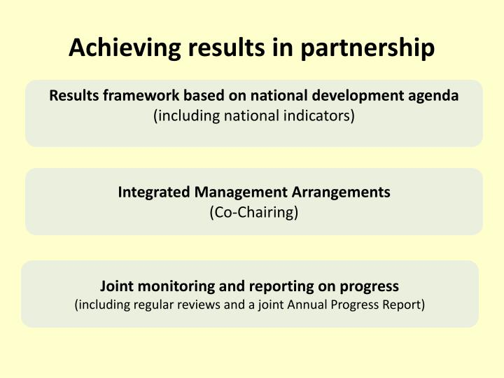 Achieving results in partnership