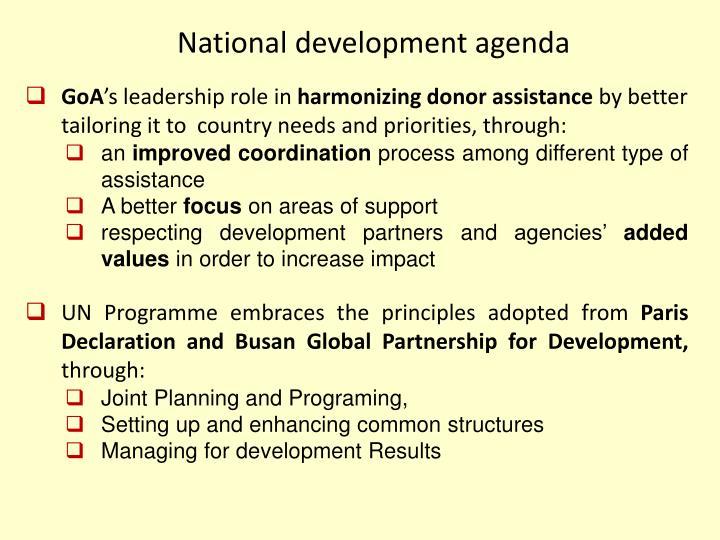 National development agenda