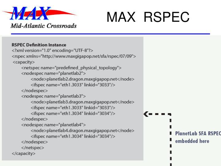 MAX  RSPEC