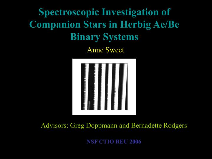Advisors: Greg Doppmann and Bernadette Rodgers
