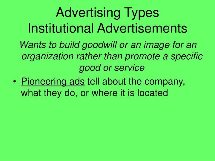 Advertising Types