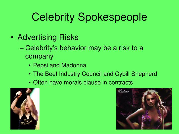 Celebrity Spokespeople