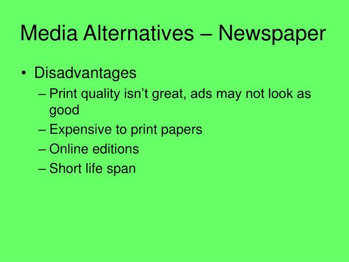 Media Alternatives – Newspaper