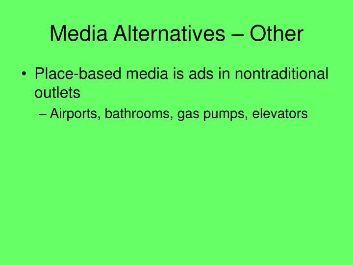 Media Alternatives – Other