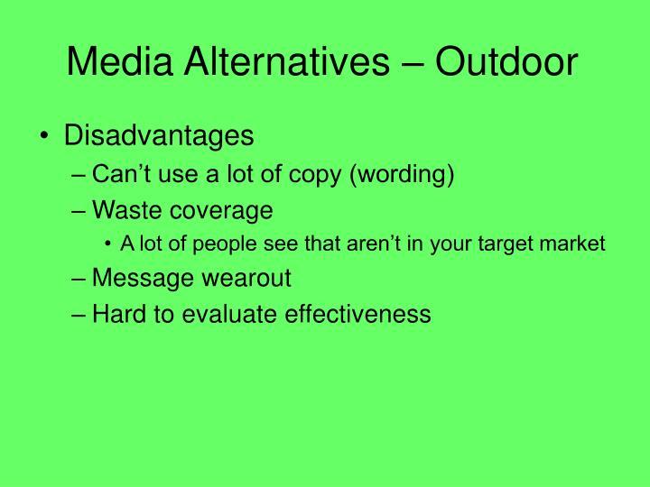 Media Alternatives – Outdoor