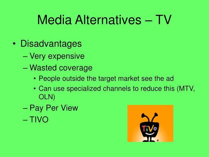 Media Alternatives – TV
