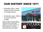 our history since 19712