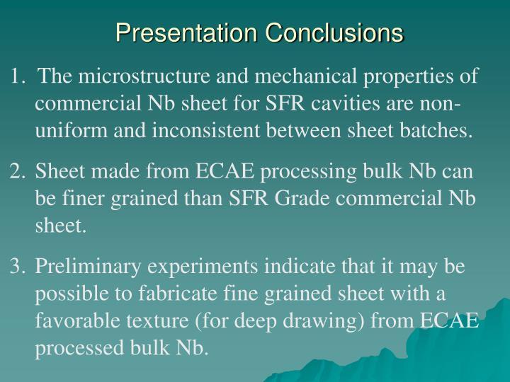Presentation Conclusions