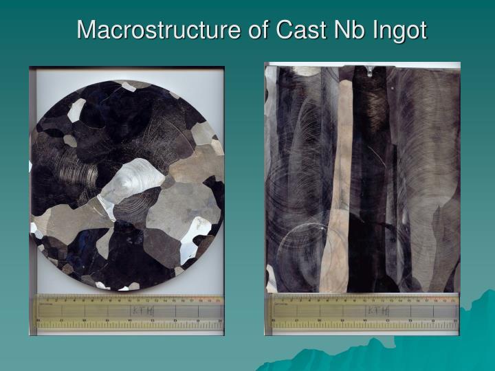 Macrostructure of Cast Nb Ingot