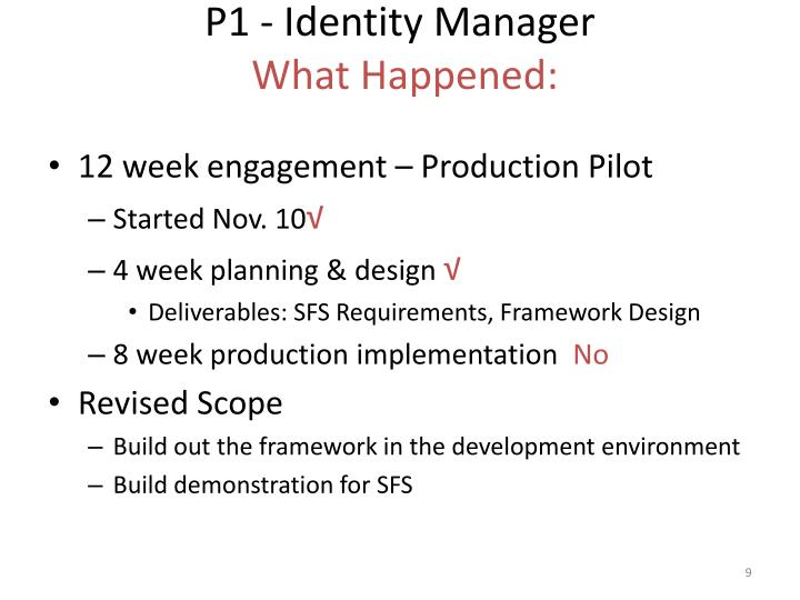 P1 - Identity Manager