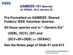 samieee 101 materials for sfbac 2013 january 2612