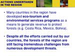 actions undertaken in the region1