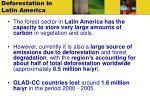 deforestation in latin america