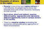 examples of drivers in the region1