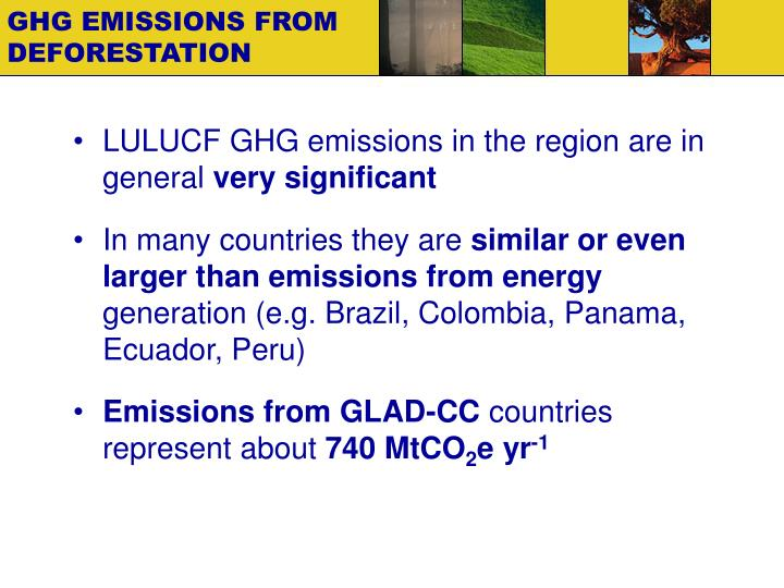GHG EMISSIONS FROM DEFORESTATION