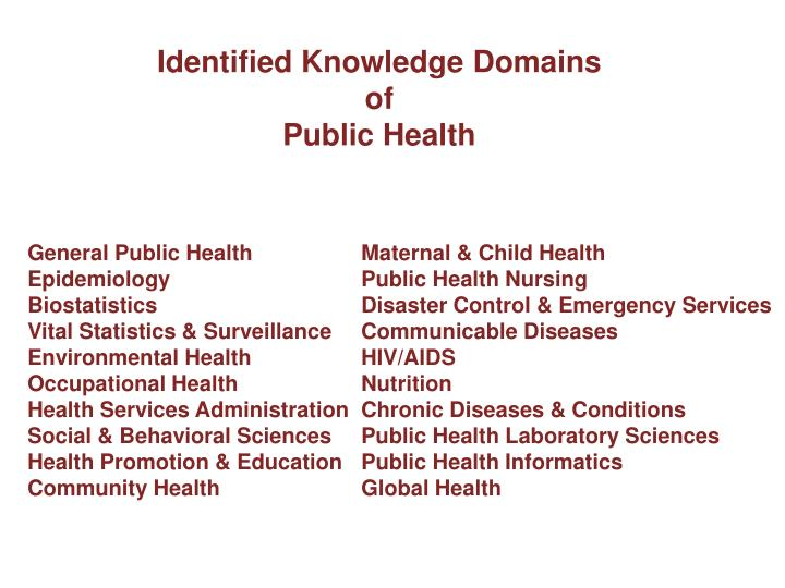Identified Knowledge Domains