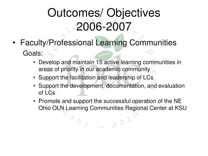 Faculty/Professional Learning Communities