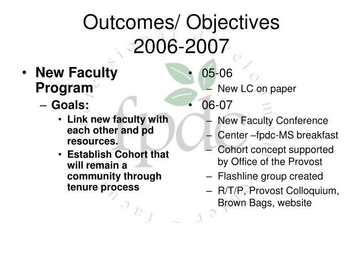 New Faculty Program