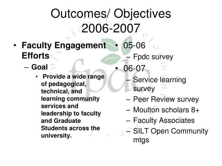 Faculty Engagement Efforts