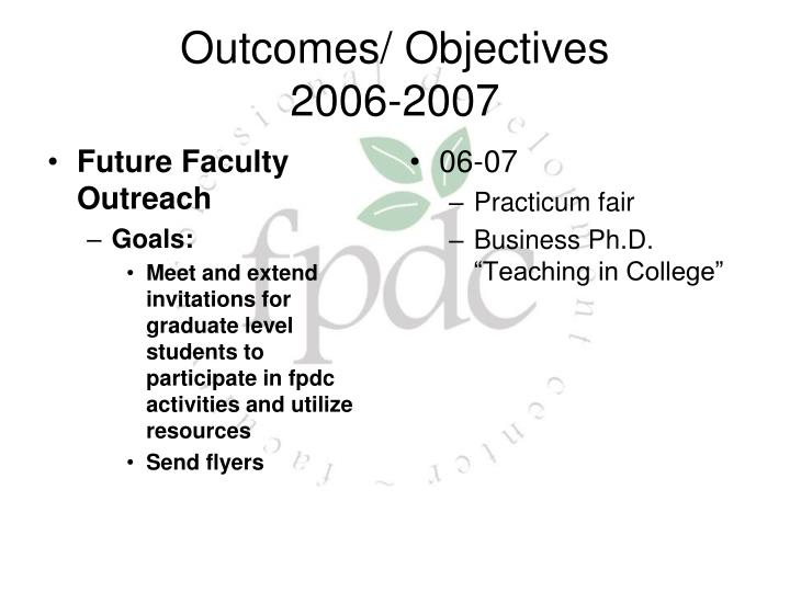 Future Faculty Outreach