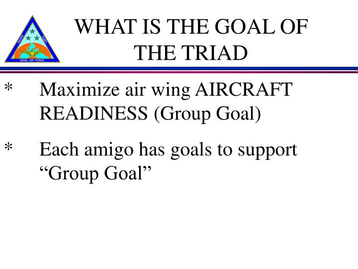 What is the goal of the triad