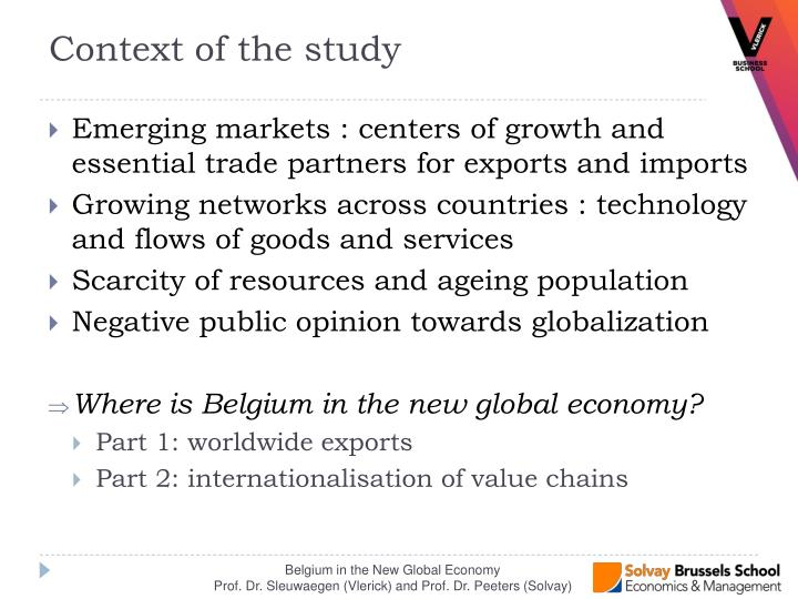 Emerging markets : centers of growth and essential trade partners for exports and imports