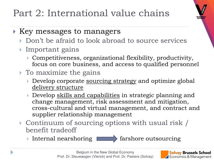 Key messages to managers