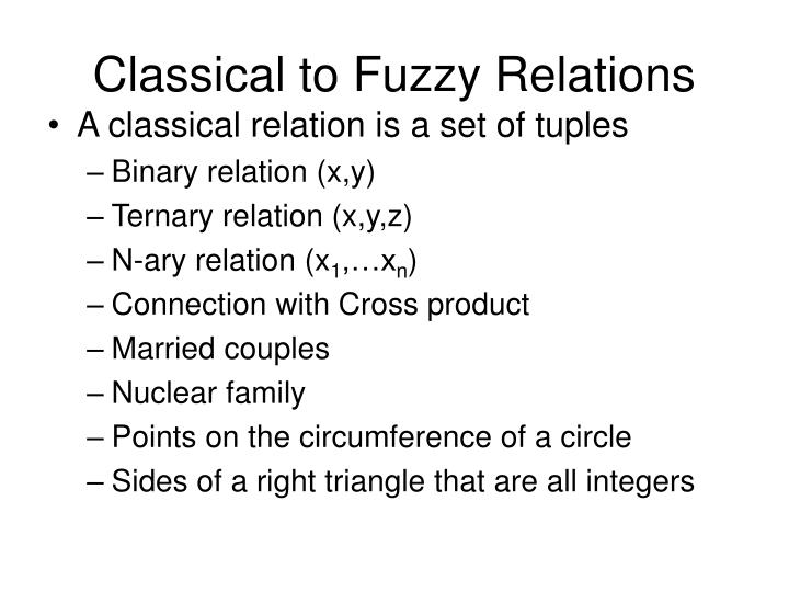 Classical to Fuzzy Relations