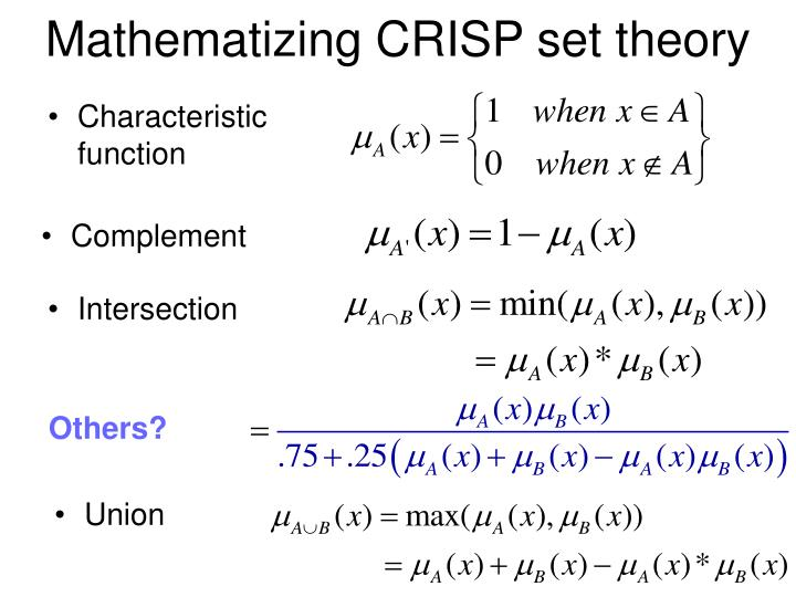Mathematizing CRISP set theory