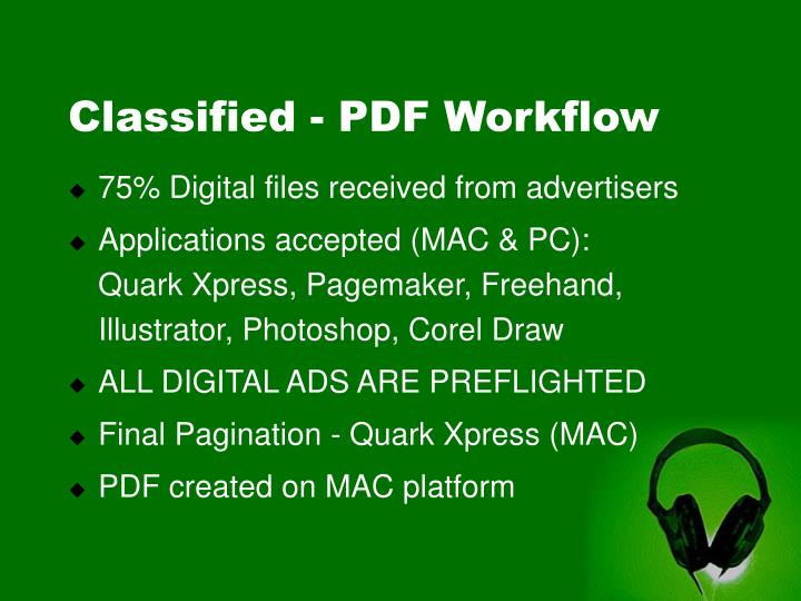Classified - PDF Workflow