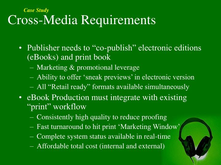 Cross-Media Requirements