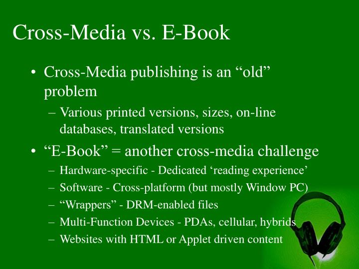 Cross-Media vs. E-Book