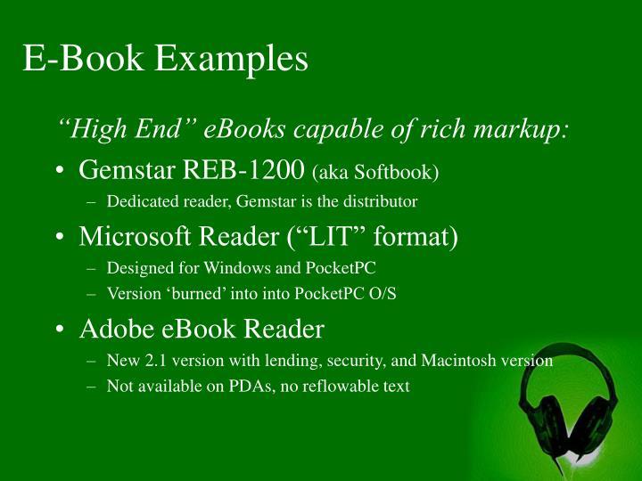 E-Book Examples