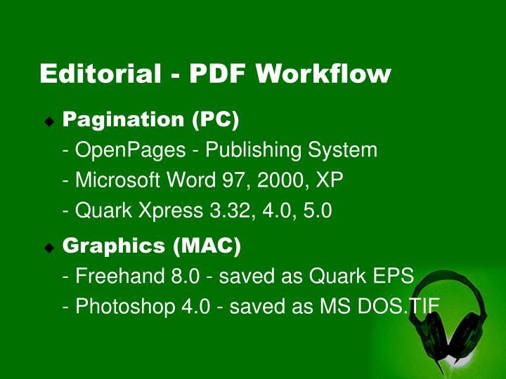Editorial - PDF Workflow