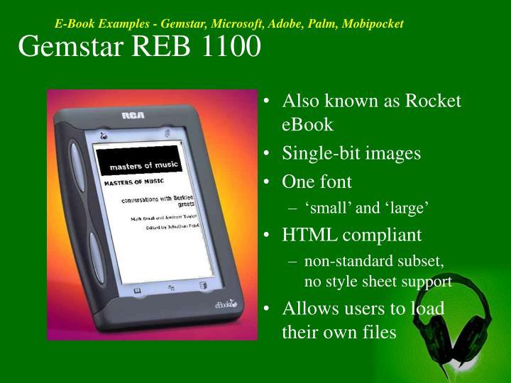 Gemstar REB 1100